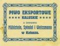 Калуш Browar Parowy Mühlstein, Spindel i Weissmann Eksportowe PL-09-KLS-03-EKW-X-xx-12-006