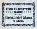 Калуш Browar Parowy Mühlstein, Spindel i Weissmann Eksportowe PL-09-KLS-03-EKW-X-xx-12-008