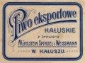 Калуш Browar Parowy Mühlstein, Spindel i Weissmann Eksportowe PL-09-KLS-03-EKW-X-xx-14-002