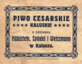 Калуш Browar Parowy Mühlstein, Spindel i Weissmann Cesarskie PL-09-KLS-03-CEC-X-xx-04-002